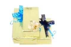 Коробки подарка цвета Нового Года. Стоковая Фотография