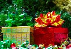 2 коробки подарка Стоковое фото RF