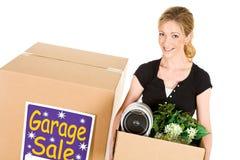 Коробки: Подготавливайте для того чтобы продать старье на продаже Стоковая Фотография RF