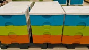Коробки пластичных клетей Стоковое Фото