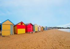 Коробки пляжа Брайтона, Мельбурн, Австралия Стоковое Изображение RF