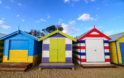 Коробки пляжа Брайтона Стоковое Изображение