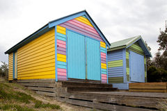 2 коробки пляжа Стоковые Фото
