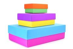 Коробки различных цветов Стоковая Фотография RF