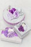 Коробки свадебных подарков зимы Стоковое Изображение RF