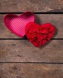 Коробки сердца валентинки Стоковые Изображения
