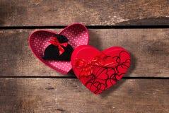 Коробки сердца валентинки Стоковая Фотография