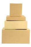 коробки складывают штабелировано Стоковое Фото