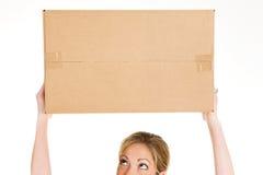 Коробки: Смотреть вверх на пустой картонной коробке Стоковые Фото
