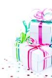 коробки смычков белые Стоковое Изображение