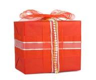 коробки смычков украсили праздник подарка Стоковое Изображение RF