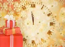 коробки смычков украсили тесемки праздника подарка Стоковое Изображение