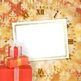коробки смычков украсили тесемки праздника подарка Стоковые Изображения RF