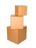 Коробки: Стог загерметизированных картонных коробок Стоковое фото RF