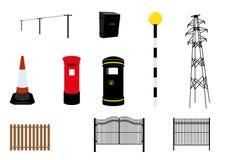 Коробки столба и мебель улицы Стоковая Фотография RF