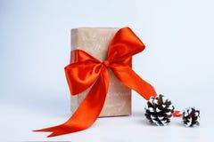 Коробки с подарками на белой предпосылке Стоковое Фото
