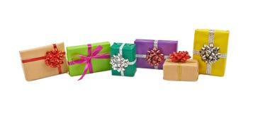 Коробки с подарками на белизне Стоковое фото RF