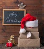 Коробки с подарками на рождество Стоковая Фотография