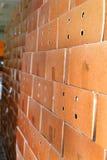 Коробки упаковки картона в складе, предпосылке Стоковая Фотография