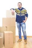 Коробки упаковки человека Стоковые Изображения RF