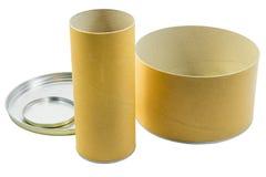 2 коробки цилиндра упаковывая Стоковые Изображения RF