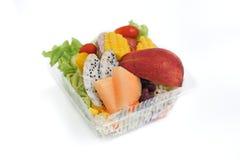 Коробки для завтрака здорового питания с салатом овощей Стоковое фото RF