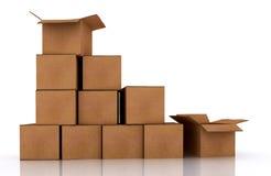 коробки Стоковое Фото