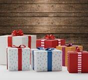 Коробки 3d-illustration настоящих моментов подарков Стоковая Фотография