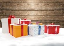 Коробки 3d-illustration подарков на рождество подарков рождества Стоковые Фотографии RF
