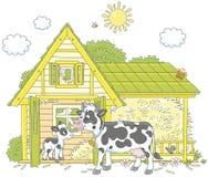 Корова и икра иллюстрация вектора