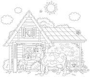 Корова и икра иллюстрация штока