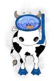 корова милая Стоковые Фотографии RF