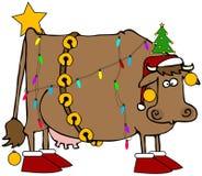 корова рождества Стоковые Изображения RF