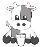 корова симпатичная Стоковые Изображения