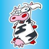 корова смешная Стоковые Изображения