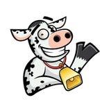 корова смешная Стоковая Фотография RF