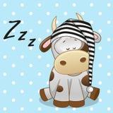 Корова спать бесплатная иллюстрация