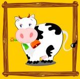 корова счастливая Стоковые Изображения