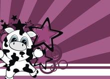 корова шаржа младенца background2 Стоковая Фотография