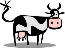 корова шаржа смешная Стоковое Изображение RF
