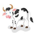 корова шаржа смешная Стоковые Изображения
