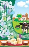 коровы иллюстрация штока