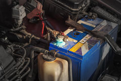 Корозия батареи стоковое фото
