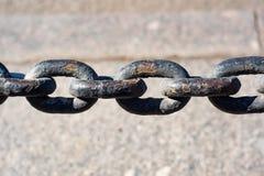 Корозия на большой цепи металла стоковые фотографии rf