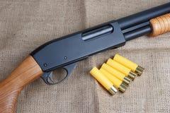 Корокоствольное оружие действия насоса Стоковые Фото