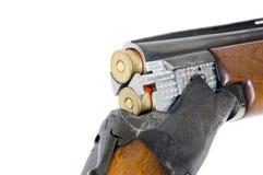 корокоствольное оружие 12 cal бочонка двойное Стоковые Изображения RF