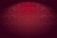 Королевская, винтажная, готическая горизонтальная предпосылка в красном цвете иллюстрация вектора