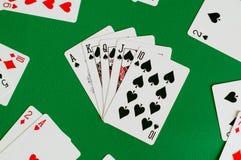 королевская лопата прямого потока, карточка покера стоковые изображения rf