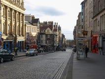 Королевская миля в Эдинбурге Стоковая Фотография