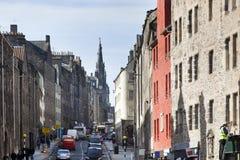 Королевская миля в Эдинбурге Стоковое Фото